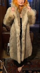Large Long Canadian Lynx Fur Coat - Silky Soft And Comfortable Size 6 To 8