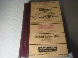 1955 Morrison And Fourmy's Galveston Tx City Directory Reference Maceo Vintage Ads