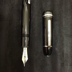 New A Mont Blanc A Fountain Pen 149 Platinum 114227 From Japan