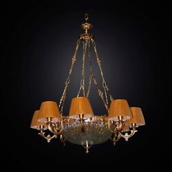 Chandelier Classic Brass And Crystal 12 Lights Bga 2824/12