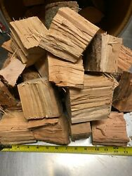 Cherry Wood Chunks For Smoking Bbq Grilling Cooking Smoker Free Shipping 5 + Lbs