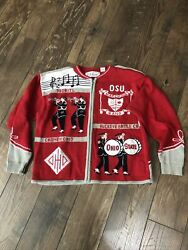 Ohio State Buckeyes Marching Band Sweater Xl Script Drum Bellepointe Music Box