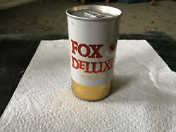 Fox Deluxe 12 Oz Pull Tab Bottom Opened Empty Beer Can Usbc 65-37.
