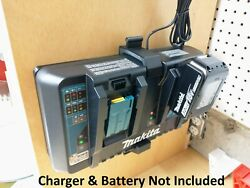 Wall Mount For Makita Dc18rd 2-battery Charger, Made In Usa