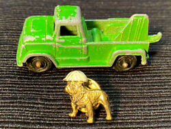 Vintage Mack Truck Bulldog Pin and Vintage Die Cast Toy Truck