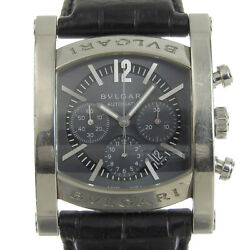 Bvlgari Assioma Aa44sch Chronograph Navy Dial Automatic Menand039s Watch Used