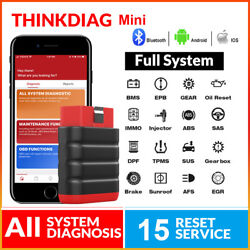 Thinkdiag Mini Obd2 Auto Code Reader Diagnostic Scanner Tpms Abs Immo Srs Tool