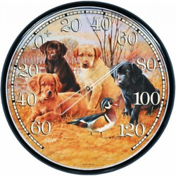 Acurite 01712 12.5-inch Wall Thermometer Labrador Puppies