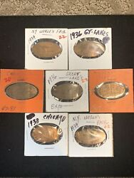 7pc Elongated Coins 1936 Great Lakes Expo, 1939 Ny Worlds Fair,1933 Chicago Fair
