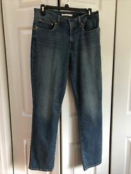Women Levi Original Riveted 414 Relaxed Straight Stretch Jeans Sz6/27 Nwot