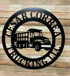 Dump Truck Decor - 24 Personalized Excavation Contractor Business Sign - Custom