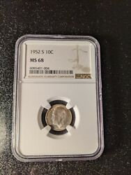 1952-s Roosevelt Silver Dime Ngc Ms-68, Extremely Rare
