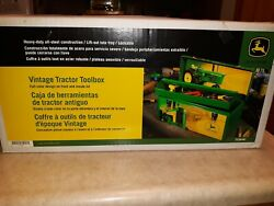 John Deere Vintage Tractor Toolbox 21in With Full Color Design On Front And...