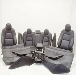 Tesla Model 3 Interior Seats W/ Door Cards And Center Console Set 2018 Lhd