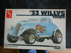 Vintage 1979 Amt And03933 Willys Coupe Model Car Parts. Parts Only