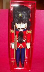 Holiday Lane Nutcracker Guard Soldier Wood With Rifle Gun 15'' Christmas 1996