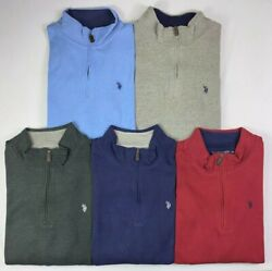 Menand039s Big And Tall Us Polo Assn. Quarter Zip Long Sleeve Sweater Pullover