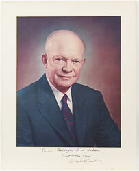 Dwight Eisenhower Best Wishes Authentic Signed 16x20 Matted Photo Jsa Bb18153