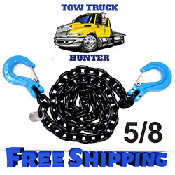 G100 5/8 X 20and039 Chain With Slip Hooks. Wrecker Rollback Tow Truck Rotator.