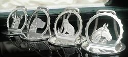 4 Cased Sterling Silver Menu Or Place Card Holders Chester 1938 A Wilcox