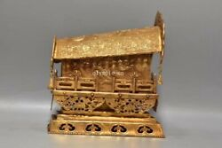8inch Bronze Gold Gilding Ware Handmade Coffin Implied Promoting Higher Position