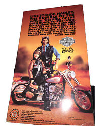 Collectors Edition Motor Harley-davidson Cycles 1999 Barbie From Mattel