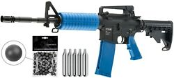 Umarex T4e M4a1 Ram Co2 .43 Paintball Rifle Marker W/ Co2 Tanks And Rubber Balls