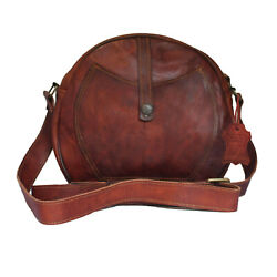 Crossbody Purse Soft Leather Hobo Women Semi Circle Zipper Brown Shoulder Bag $39.99