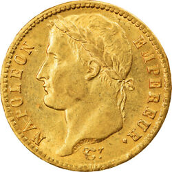 [895099] Coin France Napolandeacuteon I 20 Francs 1813 Paris Ms Gold Km695.1