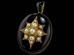 C1870 Victorian 18ct Gold And Onyx Mourning Locket