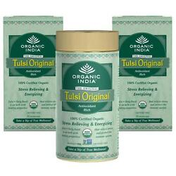 Organic India Combo Of Tulsi Original 100 Gram 1 Tin+ 25 Tea Bag 2 Sets