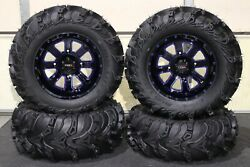 Outlander 500 27 Mud Lite Ii 14 St-4 Blue / Blk Atv Tire And Wheel Kit Can1ca