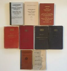 Lot Of 8 Louisville And Nashville L And N Railroad Rules Safety Agreement Books