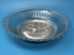 Vintage Silver Plated Snack Round Tray Made In Germany Wmf Detailed Design Deco