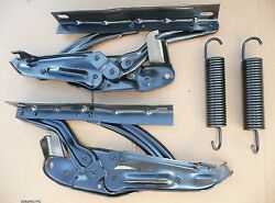1970-72 Chevelle El Camino Hood Hinge And Spring Left Right Side Hinges 1971 1972