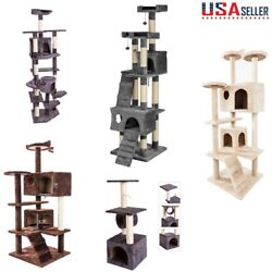 53 Cat Tree Tower Activity Center Large Playing House Condo Rest Multi Level