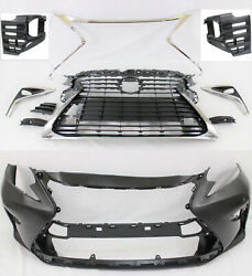 For 2016-18 Ex350 Es300h Bumper Cover Grille Fog Light Bezel Trim 10pc Set