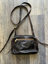 Black Soft Leather Hobo Small Crossbody Adjustable Ladies Women#x27;s Purse $39.00