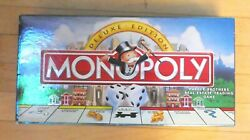 Deluxe Monopoly Game Money And Hotels Sealed W/ Gold Tokens 100 To No-kill Rescue