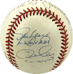 Ron Cey, Pedro Guerrero And Steve Yeager Signed Baseball Inscribed 81 Ws Comvp Psa