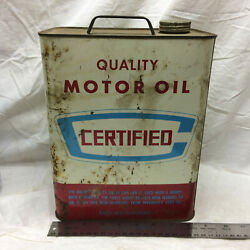 Vintage 2 Gallon Can Certified Motor Oil Ohio