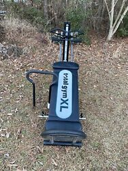 Chuck Norris Total Gym Xl With Squat Stand, Wing Bar, Pilates And Weights Bar.