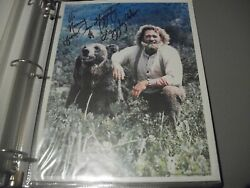 Autographed 8x10 Picture--dan Haggerty--grizzly Addams Tv Series Actor