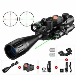 Hunting Rangefinder Scope 6-24x50 Aoeg Holographic 4 Reticle Sight Red Green Dot