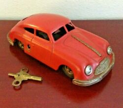 Vintage Gescha Sixmobil Red Porsche Nr557 118 Wind Up Car. Made In West Germany