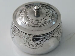 Antique Solid Silver Arts And Crafts Omar Ramsden Style Lidded Jar