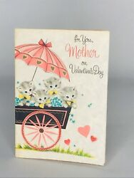 Vintage Valentines Day Card For Mother 40s/50s American Greeting Free Fast Ship