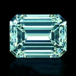 Intense Blue Emerald Cut Moissanite Stone Loose Gemstone For Collectionring