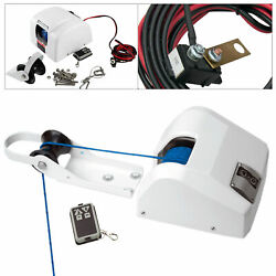 12v Boat Electric Anchor Winch 45lbs With Remote Control And Braided Anchor Rope