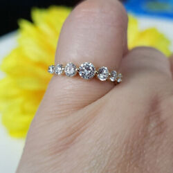 0.79 Ct Round Cut Real Diamond Ring 14k Solid Yellow Gold Solitaire Ring